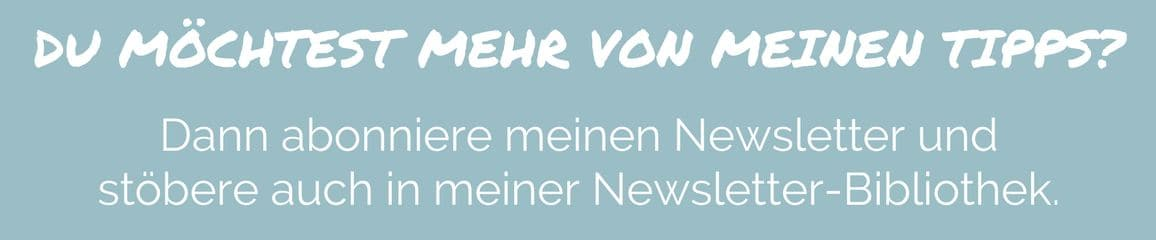 Newsletter Banner Blog türkis
