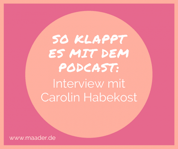 Podcast - Interview mit Carolin Habekost, Titelbild